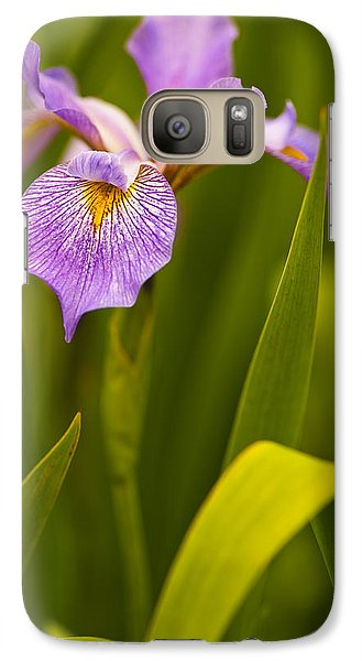 Galaxy Case featuring the photograph Violet Iris by Phyllis Peterson