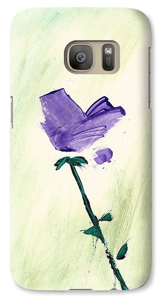 Galaxy Case featuring the painting Violet Solo by Frank Bright