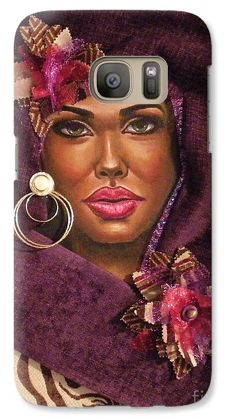 Galaxy Case featuring the painting Violets by Alga Washington
