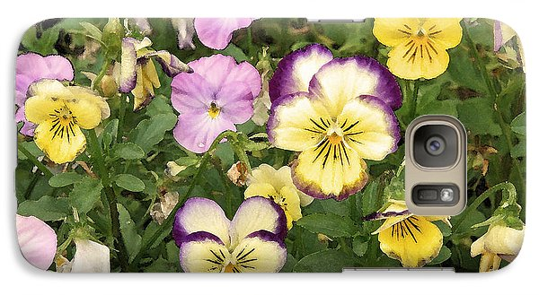 Galaxy Case featuring the photograph Violets by Brooke T Ryan
