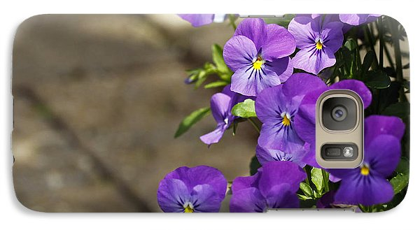 Galaxy Case featuring the photograph Violets by Denise Pohl