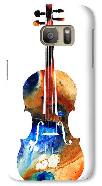 Violin Art By Sharon Cummings Galaxy S7 Case by Sharon Cummings