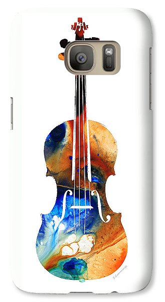 Violin Galaxy S7 Case - Violin Art By Sharon Cummings by Sharon Cummings