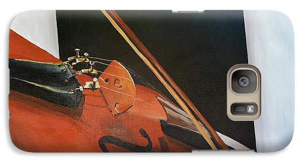 Galaxy Case featuring the painting Violin by Jock McGregor