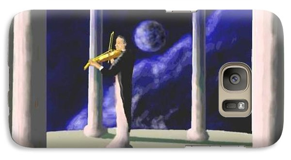 Galaxy Case featuring the digital art Violin Player by Steve  Hester