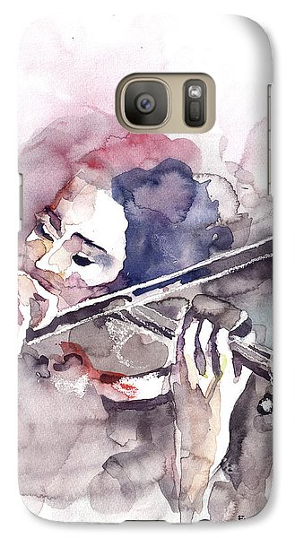 Galaxy Case featuring the painting Violin Prelude by Faruk Koksal