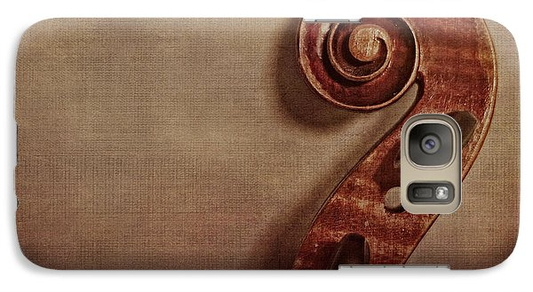 Violin Galaxy S7 Case - Violin Scroll by Emily Kay