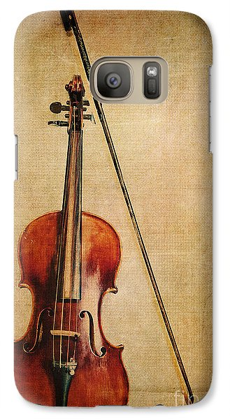 Violin Galaxy S7 Case - Violin With Bow by Emily Kay