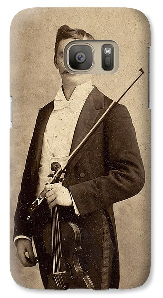 Violin Galaxy S7 Case - Violinist, C1900 by Granger
