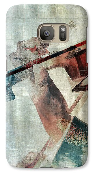 Violin Galaxy S7 Case - Violinist by David Ridley