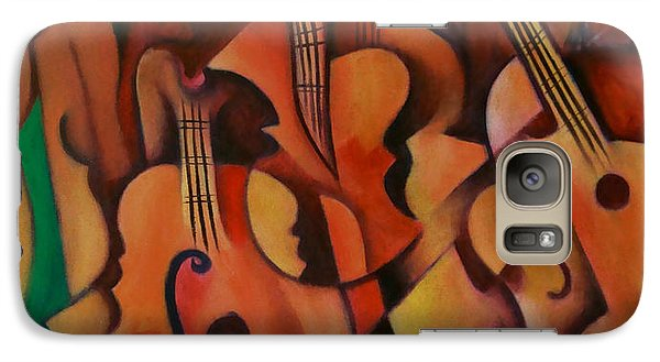 Galaxy Case featuring the painting Violins With Mandolin by Kim Gauge