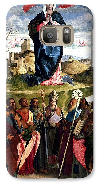 Galaxy Case featuring the painting Virgin In Glory With Saints 1515 Giovanni Bellini by Karon Melillo DeVega
