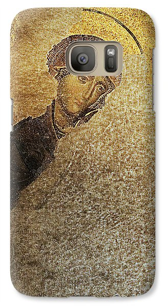 Galaxy Case featuring the photograph Virgin Mary-detail Of Deesis Mosaic  Hagia Sophia-day Of Judgement by Urft Valley Art