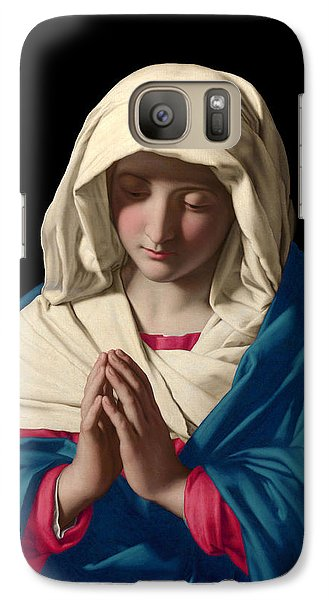 Galaxy Case featuring the digital art Virgin Mary In Prayer by Sassoferrato