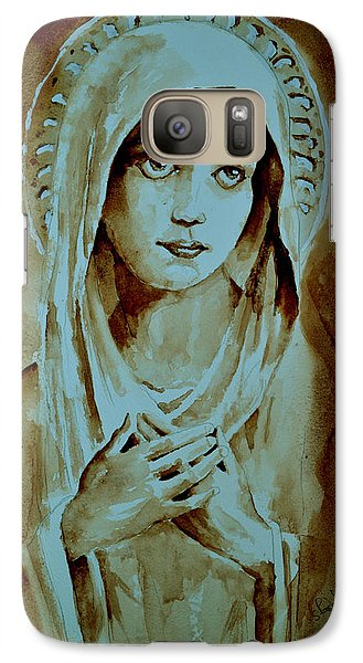 Galaxy Case featuring the painting Virgin Mary by Steven Ponsford