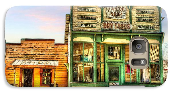 Galaxy Case featuring the photograph Virginia City Dry Goods by Mary Timman