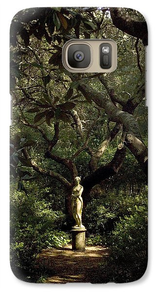 Galaxy Case featuring the photograph Virginia Dare Statue by Greg Reed