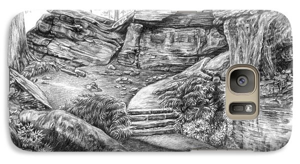 Galaxy Case featuring the drawing Virginia Kendall Ledges - Cuyahoga Valley National Park by Kelli Swan