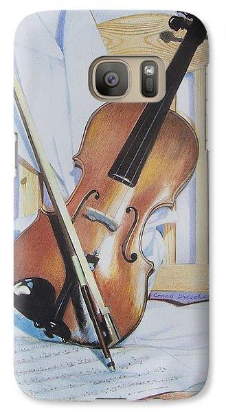 Galaxy Case featuring the mixed media Virginia's Violin by Constance Drescher
