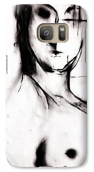 Galaxy Case featuring the drawing Vision by Helen Syron