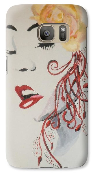Galaxy Case featuring the painting Vision In Silhouette by Cherise Foster