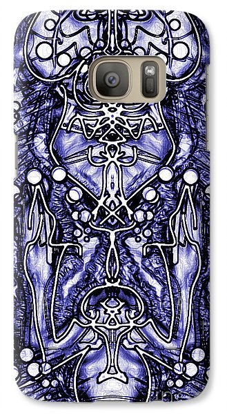 Galaxy Case featuring the digital art Visionary 8 by Devin  Cogger