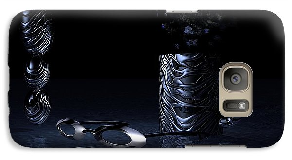 Galaxy Case featuring the digital art Visions Of Black by Jacqueline Lloyd