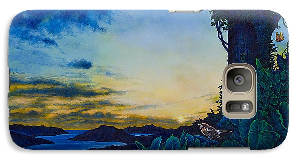 Galaxy Case featuring the painting Visions Of Paradise II by Michael Frank