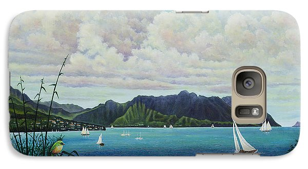 Galaxy Case featuring the painting Visions Of Paradise IIi by Michael Frank