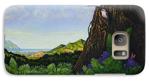 Galaxy Case featuring the painting Visions Of Paradise V by Michael Frank