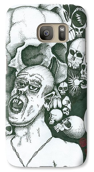 Galaxy Case featuring the painting Visions by Richie Montgomery