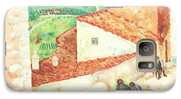 Galaxy Case featuring the painting Vista Cimitero - Forenza by Giovanni Caputo