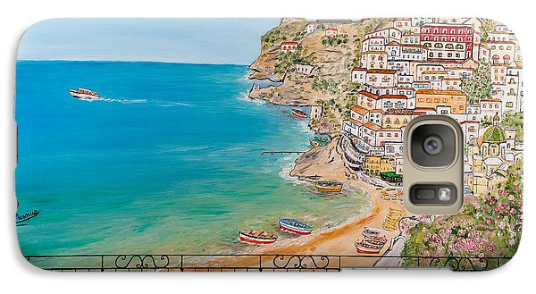 Galaxy Case featuring the painting Vista Su Positano by Loredana Messina