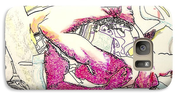 Galaxy Case featuring the painting Vivid by Ron Richard Baviello