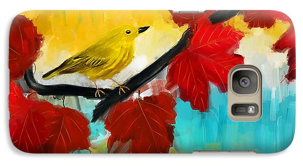 Warbler Galaxy S7 Case - Vividness by Lourry Legarde