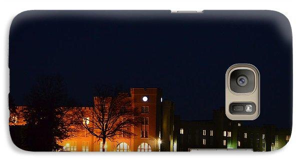 Galaxy Case featuring the photograph Vmi Night Lights by Cathy Shiflett