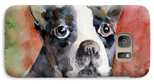 Galaxy Case featuring the painting Vodka - French Bulldog by Faruk Koksal