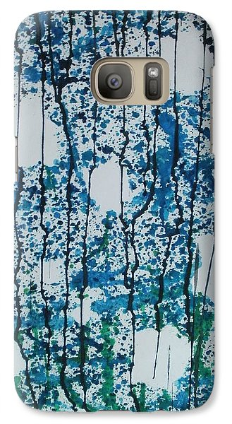Galaxy Case featuring the painting Void Of Life by Thomasina Durkay