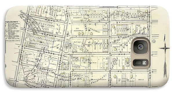 Roger Dean Galaxy S7 Case - Vol. 1. Plate, H. Map Bound By Atlantic Ave., New York by Litz Collection