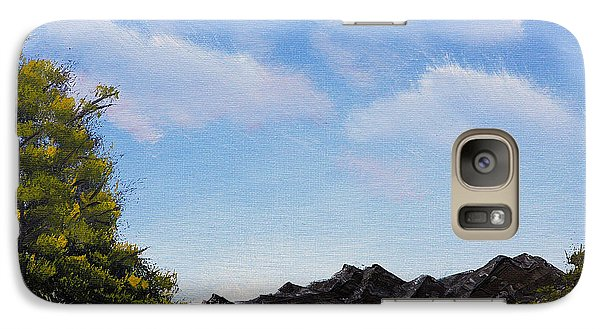 Galaxy Case featuring the painting Volcanic Rock Lagoon by Jennifer Muller