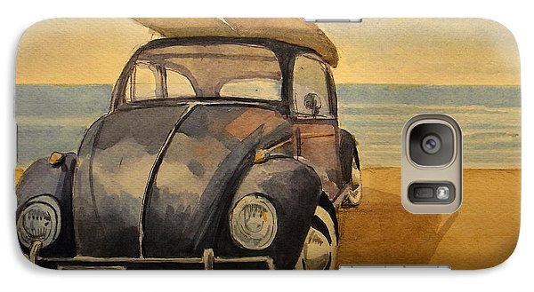Beetle Galaxy S7 Case - Volkswagen Beetle by Juan  Bosco