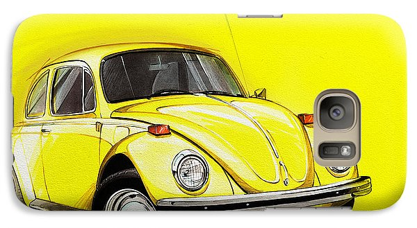 Volkswagen Beetle Vw Yellow Galaxy S7 Case by Etienne Carignan