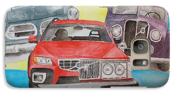 Galaxy Case featuring the painting Volvo Nostalgi by Eva Ason