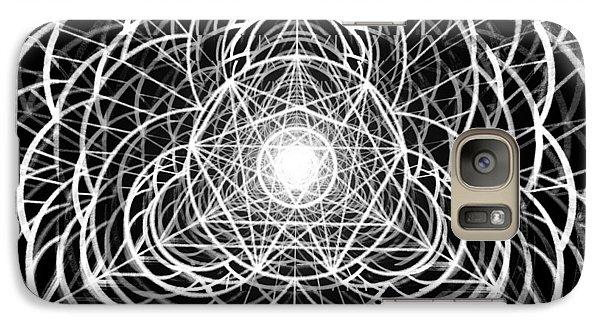 Galaxy Case featuring the drawing Vortex Equilibrium by Derek Gedney