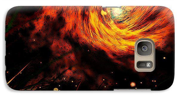 Galaxy Case featuring the painting Vortex by Persephone Artworks