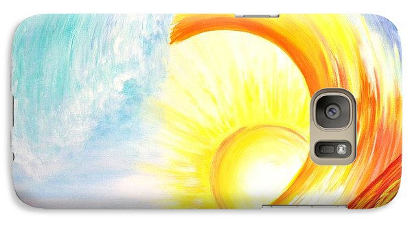 Galaxy Case featuring the painting Vortex Wave by Agata Lindquist
