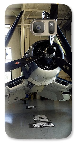 Galaxy Case featuring the photograph Vought Fg-1d Corsair by Rebecca Davis