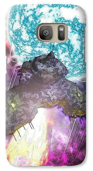 Galaxy Case featuring the digital art Voyage by Matt Lindley