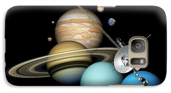 Voyager 2 And Planets Galaxy S7 Case by Carlos Clarivan