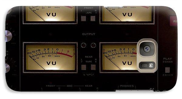 Galaxy Case featuring the photograph Vu Meter Input Output by Gunter Nezhoda
